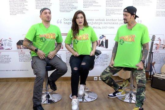 Pemain film 'Mangga Muda' kunjungi Newsroom ANTARA