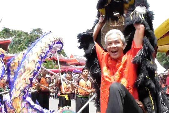 Semarak liburan Imlek di Klenteng Sam Poo Kong
