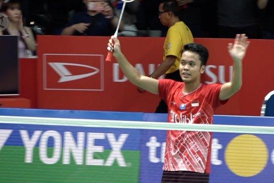 Mainkan emosi Axelsen, Ginting tembus ke final Indonesia Masters