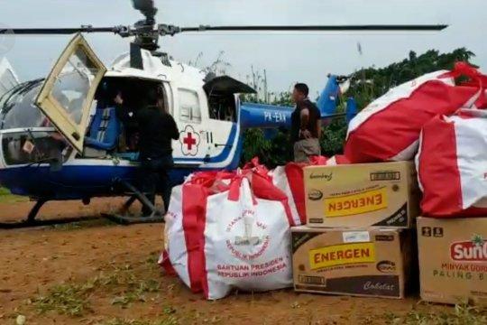 PMI salurkan bantuan untuk warga di kaki Gunung Halimun