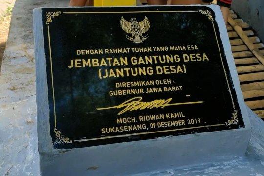 Jantung Desa Sukasenang di Garut yang baru diresmikan Ridwan Kamil