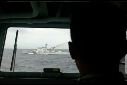 TNI kembali  mengusir kapal China di Perairan Natuna