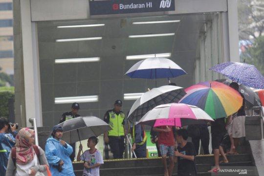 Rabu pagi, Jakarta kembali diprediksi turun hujan