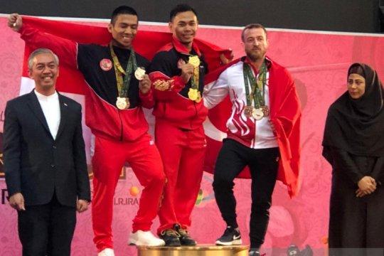 Eko Yuli dan Triyatno raih medali emas Fajr Cup di Iran