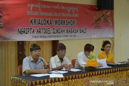 Pemprov Bali gaungkan penulisan artikel ilmiah berbahasa Bali