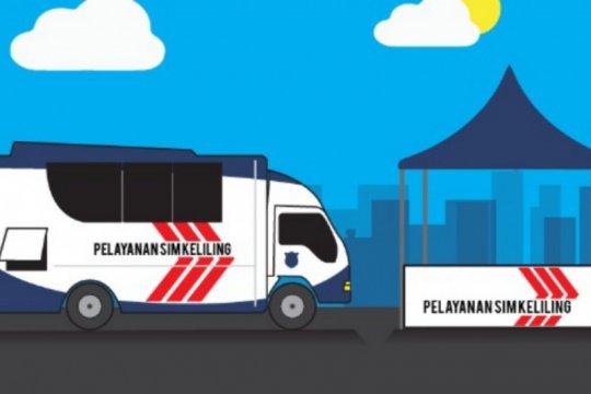 Rabu ini tersedia lima titik layanan SIM Keliling, yuk cek