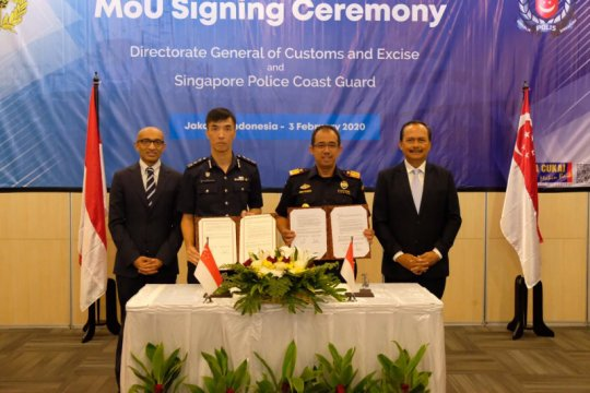 Ditjen BC perkuat pengawasan perbatasan laut dengan otoritas Singapura