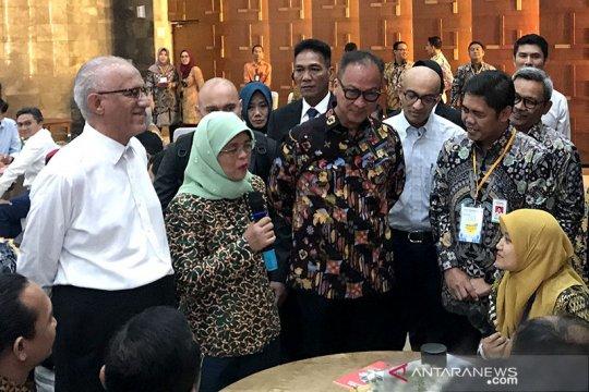Presiden Singapura dan Menperin RI pantau pelatihan industri 4.0
