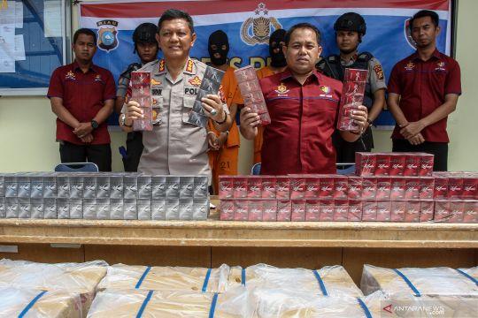 Polda Riau gagalkan penyelundupan 25 ribu bungkus rokok ilegal