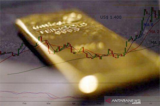 """Emas """"rebound"""", kembali bertengger di atas level 1.900 dolar AS"""