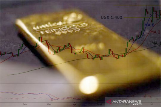 Emas turun tertekan penguatan dolar, bank-bank sentral dalam fokus