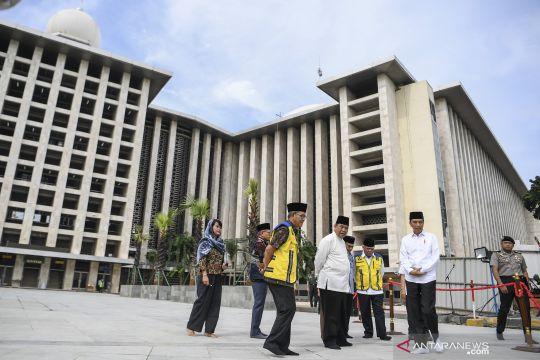 Presiden Jokowi tinjau renovasi masjid Istiqlal