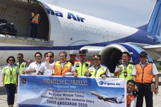 Kemenhub realisasikan subsidi angkutan udara kargo rute Timika-Wamena