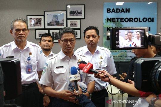 BMKG: Curah hujan di Jakarta mulai menurun namun tetap waspada banjir
