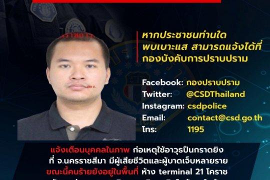 Polisi: 17 tewas, 21 luka-luka dalam penembakan di Thailand