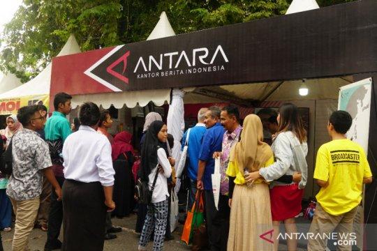 Booth ANTARA di pameran HPN diserbu peserta lomba presenter TV