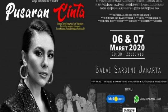 "Wulan Guritno ramaikan pementasan teater musikal ""Pusaran Cinta"""
