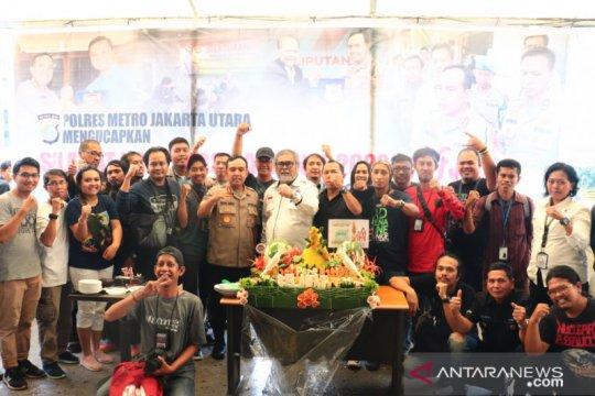 Polres Jakarta Utara dan jurnalis rayakan HPN 2020