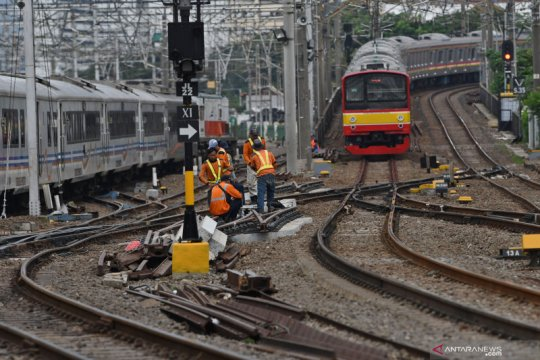 Rekayasa layanan KRL masih berlangsung hingga tiga hari lagi