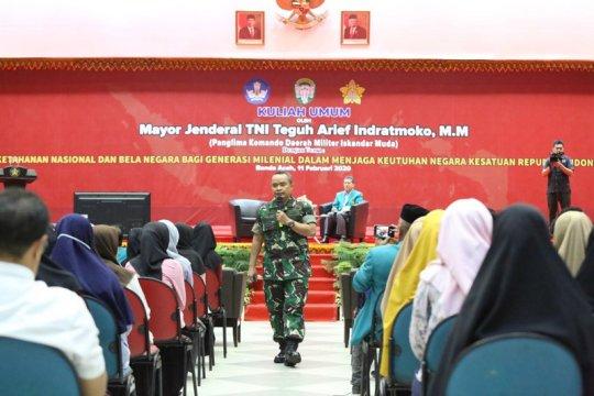 Pangdam IM ingatkan mahasiswa Aceh tidak gampang terpengaruh hoaks