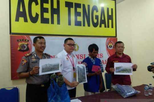 Polisi tangkap pelaku pembakaran delapan lahan di Aceh Tengah