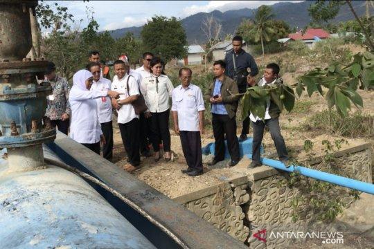 Gubernur Jatim tinjau pipanisasi air bersih di Sigi