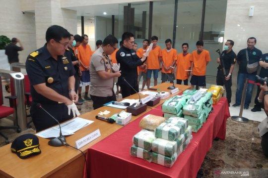 Bareskrim sita 59 kg sabu-sabu asal Malaysia