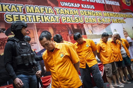 Polisi dan BPN ungkap sindikat mafia tanah