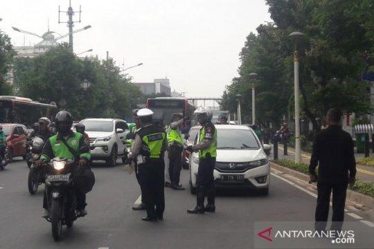 Polres dan Samsat Jakarta Pusat menilang ratusan kendaraan