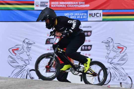 Bagus Saputra juarai Kejurnas BMX 2021 di Yogyakarta