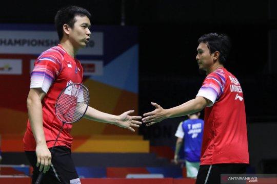 Meski cedera, Ahsan/Hendra lewati babak pertama Thailand Open II