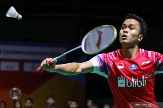Anthony Sinisuka Ginting segel tiket perempat final Thailand Open