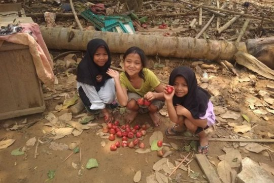 Trauma hilang, anak korban bencana banjir di Lebak mulai bermain lagi