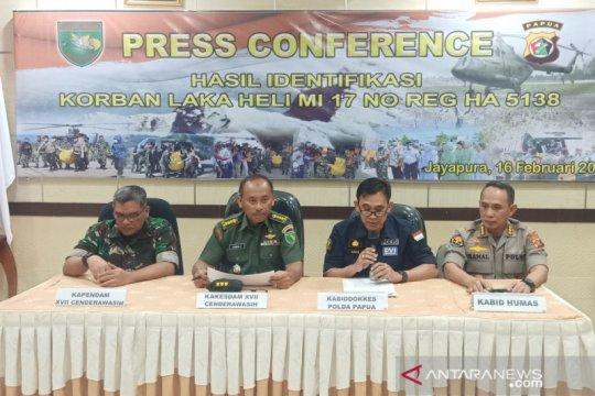 DVI-Kesdam umumkan hasil identifikasi 12 prajurit TNI gugur di Papua