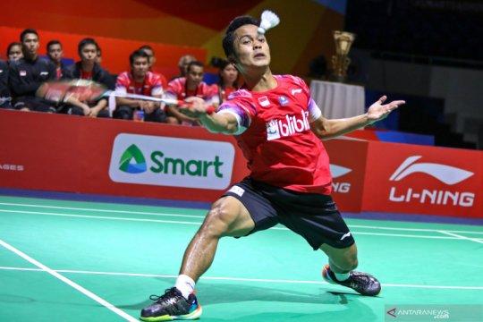 Anthony Ginting terhenti di babak kedua Thailand Open II