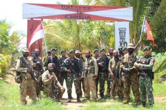 TNI-PNGDF patroli patok bersama di perbatasan RI-PNG