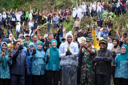 Kabupaten Gowa tanam puluhan ribu bibit vetiver untuk cegah longsor