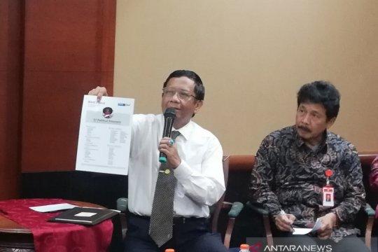 Mahfud sebut dokumen BEM UI soal Papua cuma dua lembar