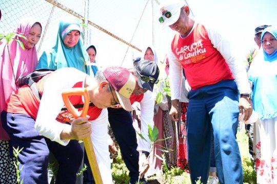 """Ribuan pohon ditanam di Pulau Kodingareng lewat """"Garuda di Lautku"""""""