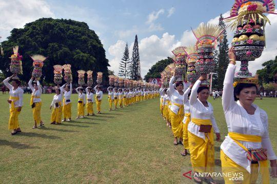 Ritual adat mengenang perjuangan I Gusti Ngurai Rai