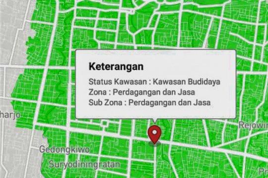 Informasi tata ruang di Yogyakarta dapat diakses daring