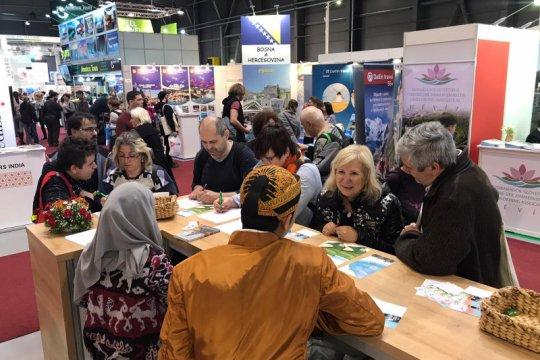 Paviliun Indonesia di Holiday World 2020 Praha menarik pengunjung