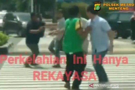 Polisi tangkap pembuat video rekayasa perkelahian di Jalan MH Thamrin