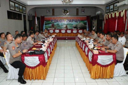 Kapolda Papua pimpin rapat persiapan pengamanan pilkada dan PON