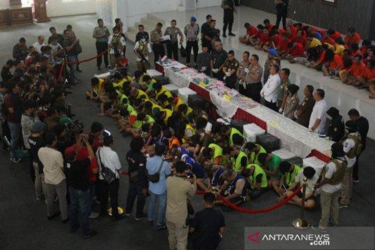 Polrestabes Surabaya ungkap 32 kilogram sabu-sabu pada awal 2020