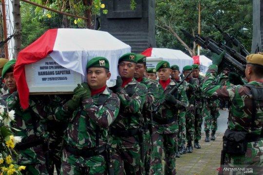 Pemakaman korban kecelakaan Helikopter TNI AD