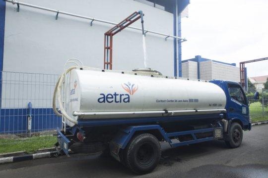 Distribusi air Aetra di empat kelurahan Jaktim terganggu akibat bocor