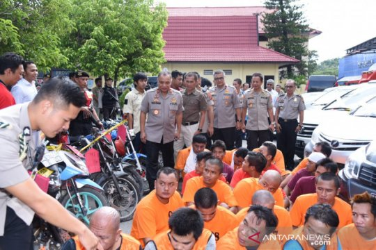 Polda Kalsel menggulung 147 pelaku pencurian kendaraan bermotor