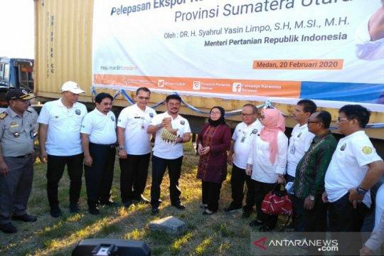 Menteri Pertanian lepas ekspor pertanian Sumut senilai Rp79 miliar
