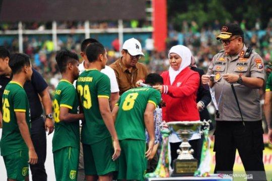 Khofifah: Selamat Persebaya juara Piala Gubernur Jatim